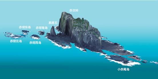 Presentación en 3D del islote Chiweiyu