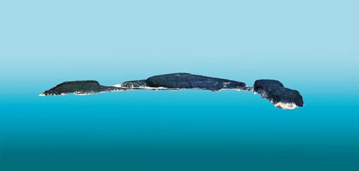 Presentación en 3D del islote Nanyu