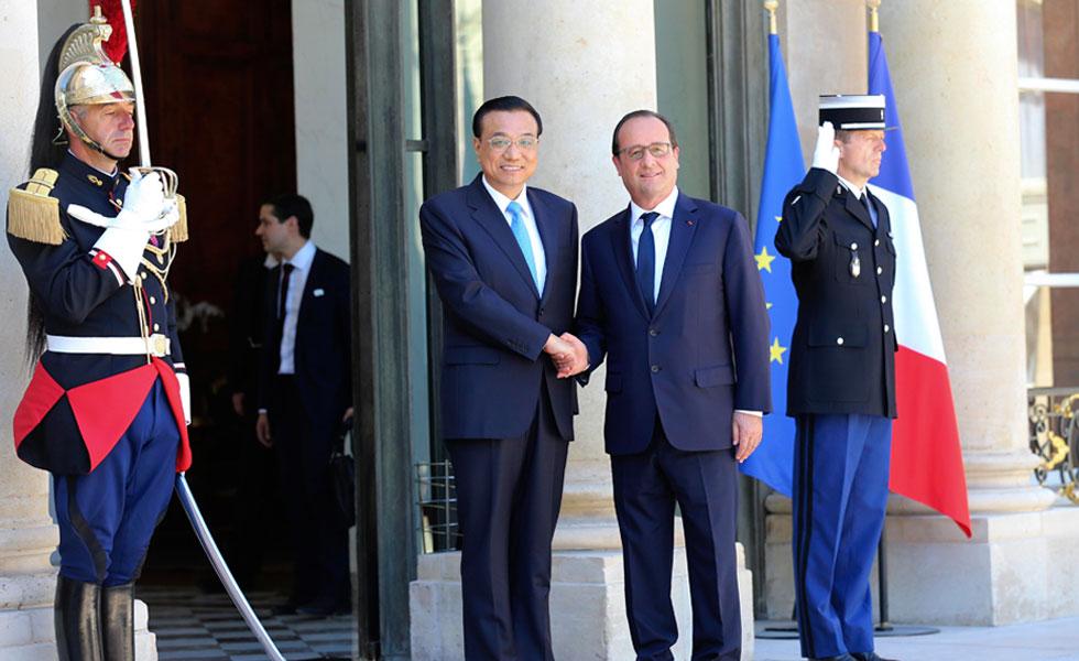 李克强会见法国总统奥朗德