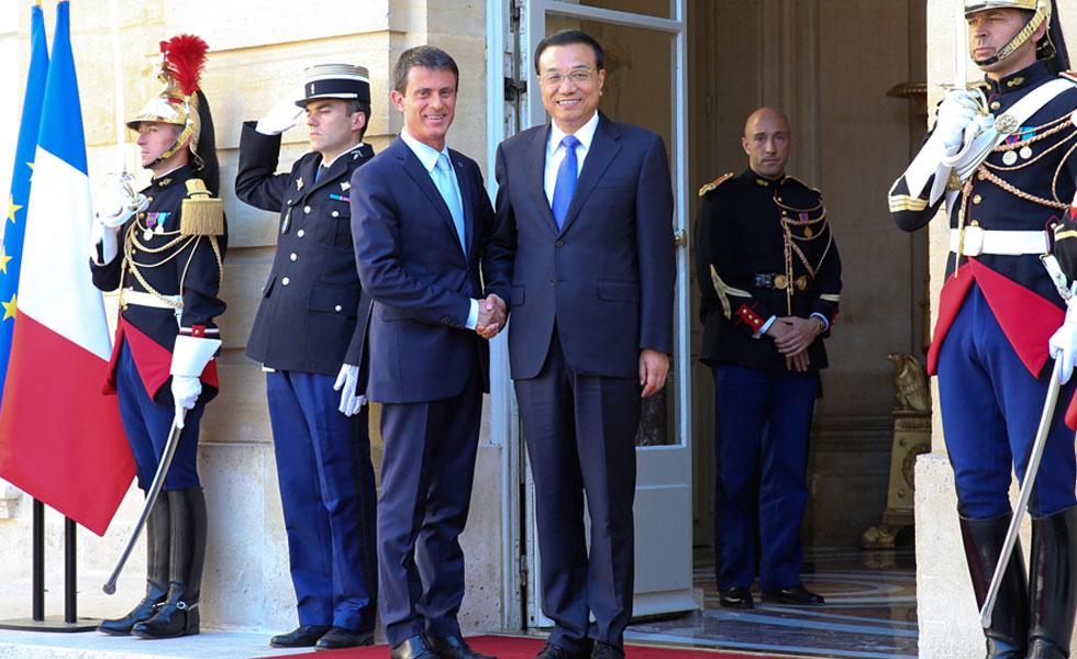 李克强同法国总理瓦尔斯会谈