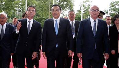 法国总理图卢兹迎候李克强