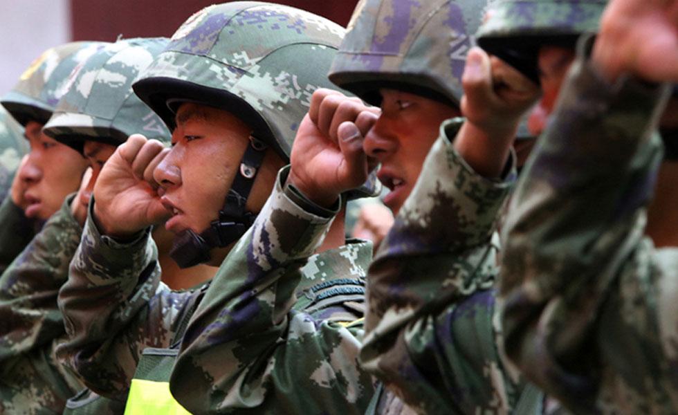 西藏边防总队举行安保誓师大会