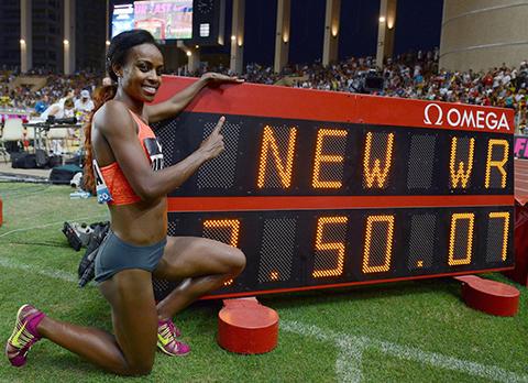 迪巴巴破曲云霞1500米长跑世界纪录