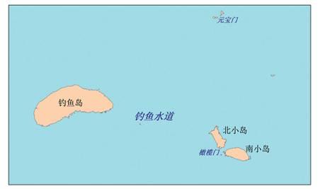 Mapa de los cursos de agua alrededor de la isla Diaoyu