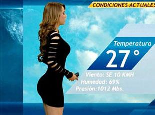 墨西哥'天气预报女孩' 性感走红 节目收视率爆表