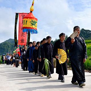 崇奉雨水神的千年水族民俗——敬霞节[组图]