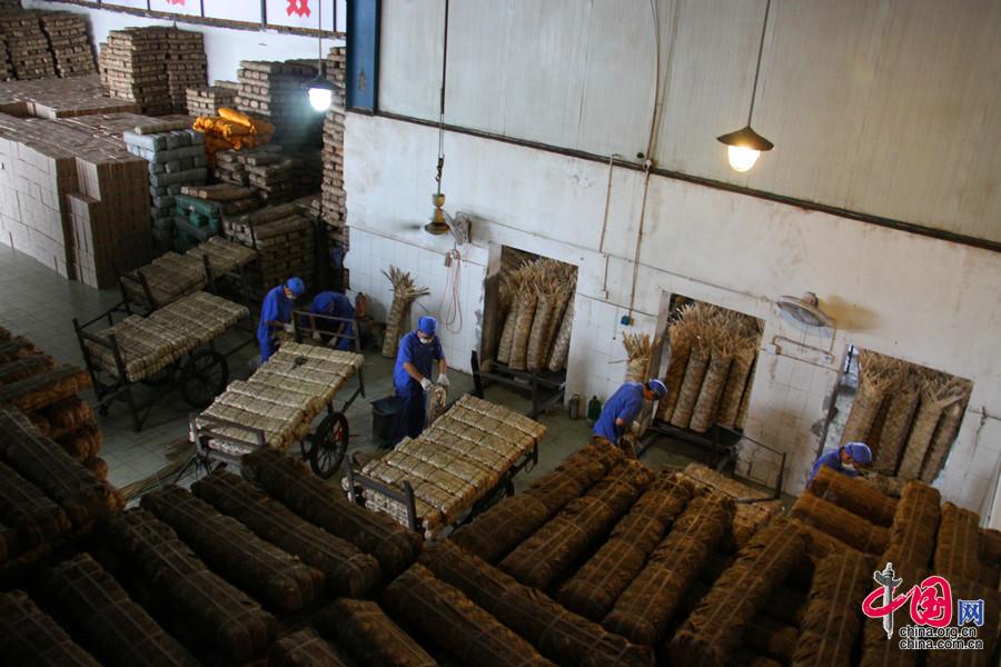 2008年,南路边茶(雅安藏茶)传统制作技艺列入第二批国家级非物质文化遗产名录,让雅安藏茶的传统制作技艺得到了更好的保护和传承。中国网 但唐文 摄