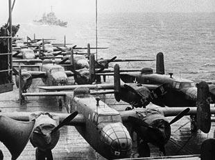 """""""大黃蜂""""奇襲東京:重溫美軍對日本土首次空襲"""