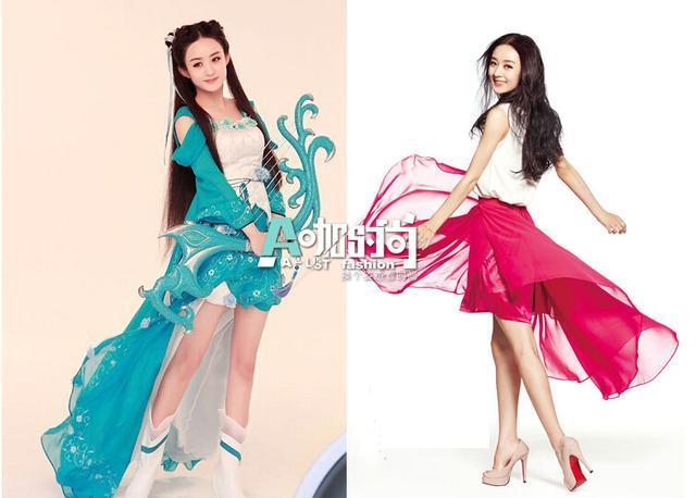 身为当下最火的古装美人,赵丽颖在电视剧《花千骨》中亦正亦邪的唯