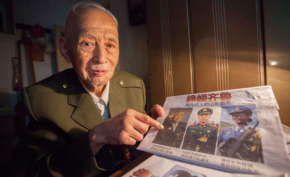 老兵王默村:替已经牺牲的战友去看看北京天安门