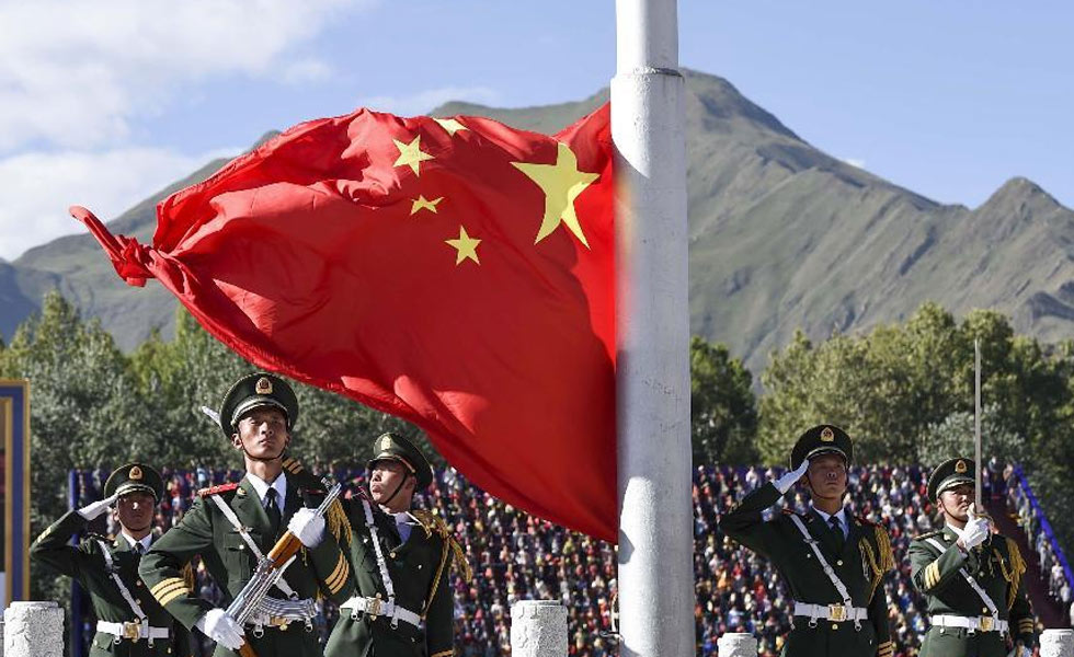西藏自治区成立50周年庆祝大会举行
