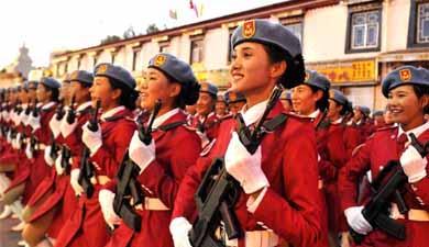 拉萨举行西藏自治区成立50周年庆祝大会