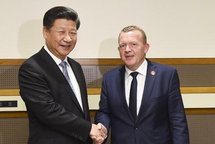 习近平会见丹麦首相拉斯穆森