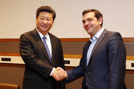 习近平会见希腊总理齐普拉斯