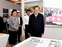 俞正声参观新疆维吾尔自治区成立60周年成就展