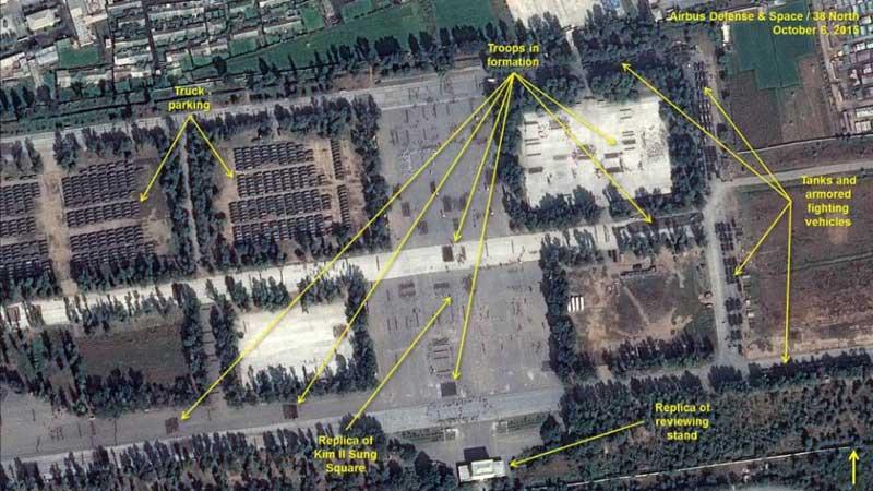 美智庫發佈朝鮮閱兵式裝備集結衛星照