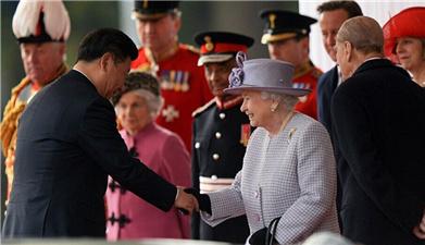 英女王举行隆重仪式欢迎国家主席习近平及夫人