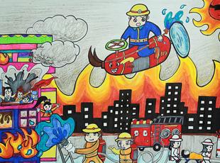 我是消防员绘画图片 图片合集