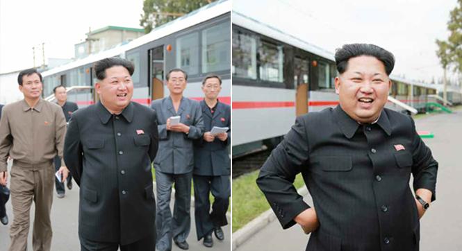 金正恩视察朝鲜新'地下电车'建设工厂