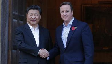 习近平同英国首相卡梅伦再次会晤