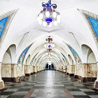 镜头下的莫斯科地铁:建于1935年的奢华画风