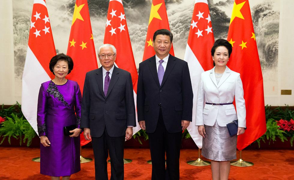 习近平同新加坡总统陈庆炎举行会谈