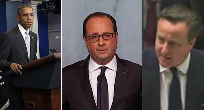 巴黎枪击事件:各国领导人表示震惊