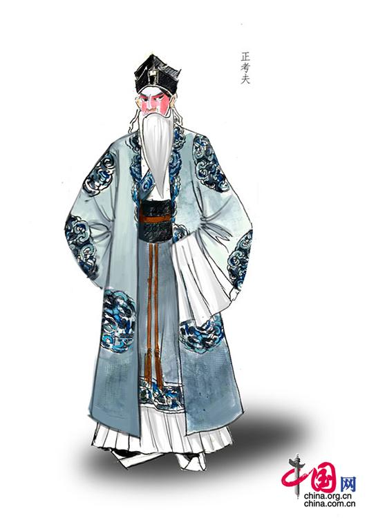 手绘京剧服装图片