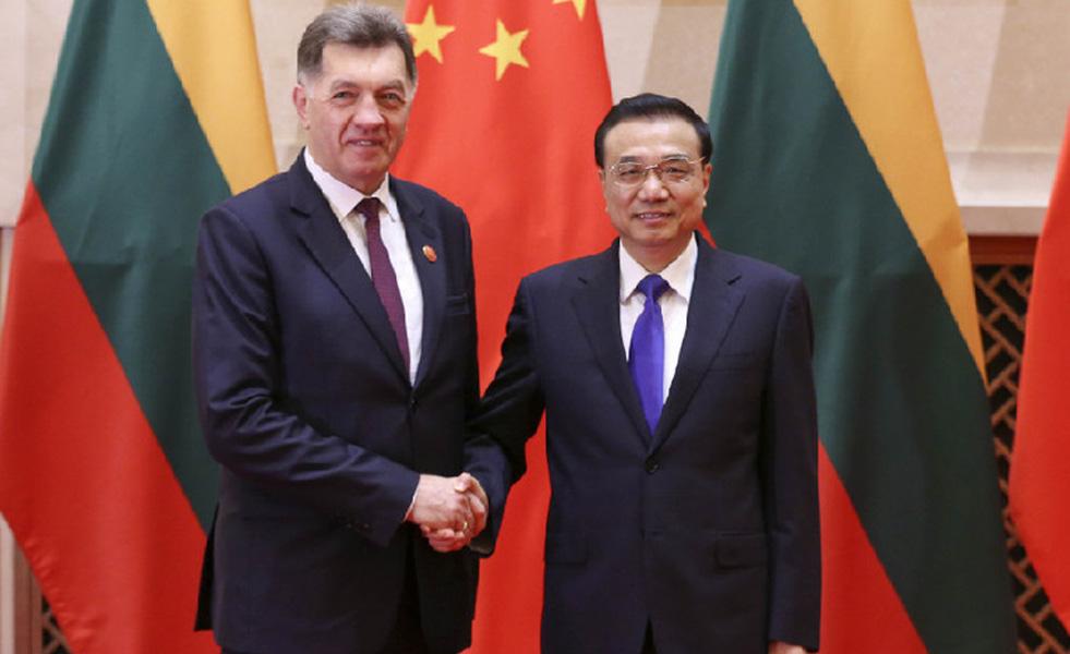 李克强会见立陶宛总理布特克维丘斯