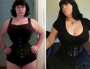 女子丰胸瘦腰成瘾 胸大腰细存健康危机