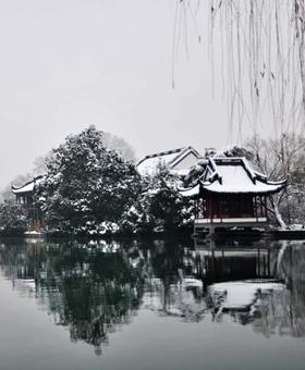 杭州降首场大雪 网友齐晒西湖雪景