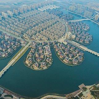 江苏一农民集中居住区壮观 堪比威尼斯水城[组图]