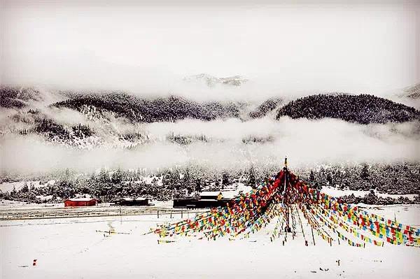 西藏的雪,只一眼就美到骨子里