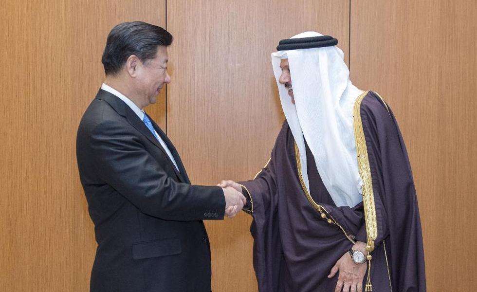 习近平会见海湾阿拉伯国家合作委员会秘书长扎耶尼