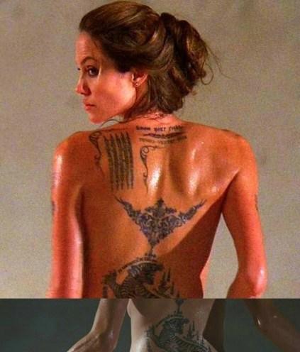 """看明星纹身秘密 揭张柏芝与谢霆锋""""爱的印记""""(图)图片"""