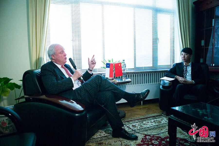 智利驻华大使关注中国应对经济新常态[组图]