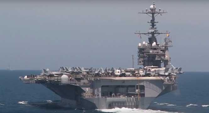 韩美史上最大规模联合军演:核航母等悉数亮相