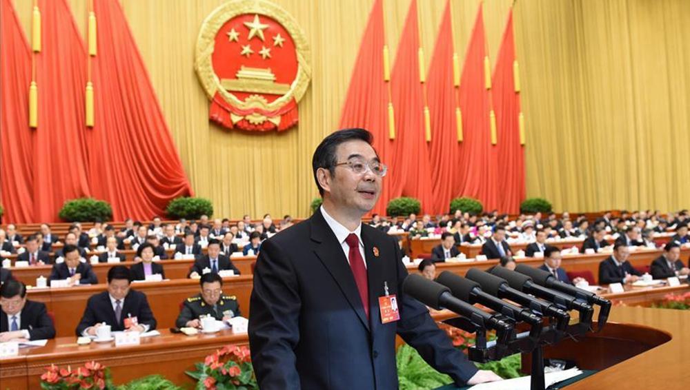 十二届全国人大四次会议举行全体会