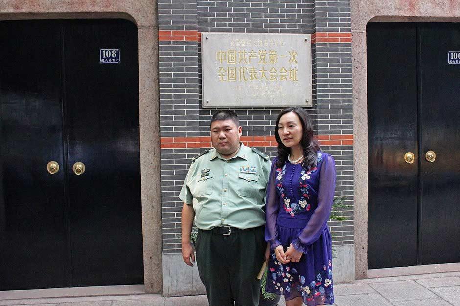 毛新宇与前妻婚宴照曝光 100余老将军出席 图