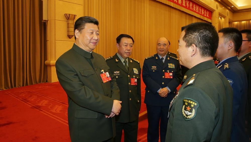 习近平出席解放军代表团全体会议