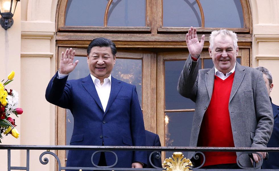 习近平同捷克总统泽曼举行会晤