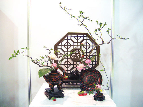 traditional flower arrangementrevival of china dream on, Natural flower