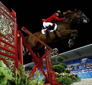 奥运马术备战 华天仍在比赛