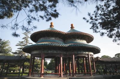 北京天坛275岁双环亭将大修 1976年由中南海迁入