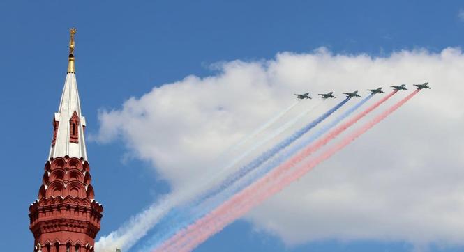 俄羅斯舉行勝利日閱兵式綵排