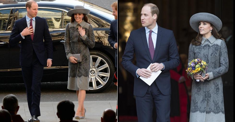 威廉王子携凯特王妃亮相 尽显亲和