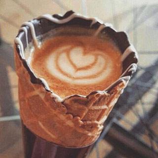 Instagram新潮流:能食用的咖啡杯[组图]