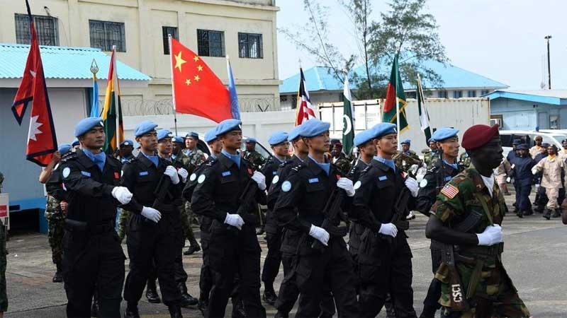"""中国驻利比里亚防暴队参加""""国际维和人员日"""""""