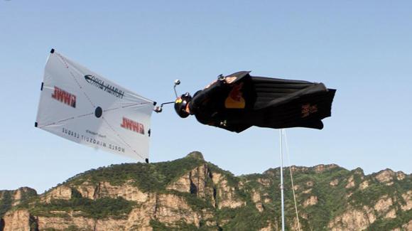 杰布长城'人箭穿靶'成功 创翼装飞行新高度