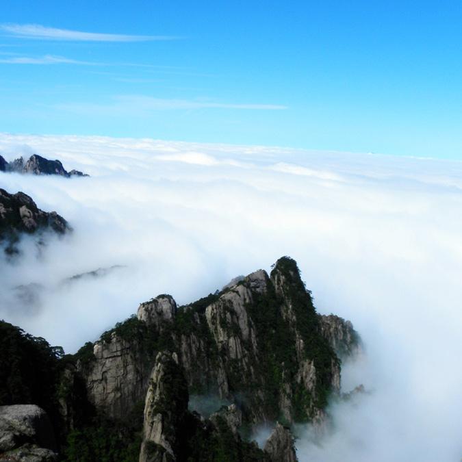 泼墨丹青,黄山云海